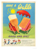 Wall's, Ice-Cream, UK, 1950 Giclee Print
