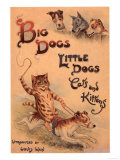 Cats and Dogs Illustrations Louis Wain, UK, 1910 Giclee Print
