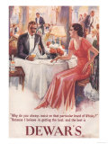 Dewar's, Whiskey Alcohol Dinners, UK, 1930 Giclee Print
