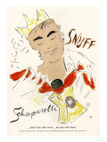 Schiaparelli Snuff, Mens Fragrance Cologne, USA, 1950 Giclee Print