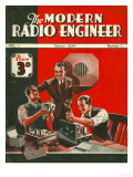 The Modern Radio Engineer, Radios First Issue Magazine, UK, 1934 Giclee Print