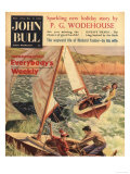 John Bull, Sailing Boats Magazine, UK, 1950 Art