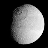 Saturn's Moon Tethys Photographic Print by  Stocktrek Images