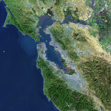 San Francisco, California, Satellite View Photographic Print by  Stocktrek Images