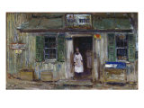 The News Depot, Cos Cob, Connecticut, 1912 Giclee Print by Childe Hassam