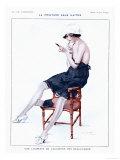 La Vie Parisienne, Glamour Erotica Underwear and Make-Up, France, 1910 Giclee Print