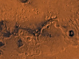 Ismenius Lacus Region of Mars Photographic Print by  Stocktrek Images