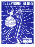 Telephone Blues Sheet Music, USA, 1920 Posters