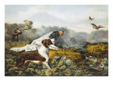 American Field Sports, a Chance For Both Barrels Giclee Print by Currier &amp; Ives 