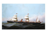 S.S. Gallia, 1881 Giclee Print by Antonio Jacobsen