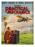 Practical Mechanics, Model Aeroplanes Remote Control Flying Aviation Magazine, UK, 1939 Giclee Print