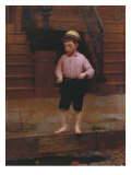 Boy Fishing at 58 1/2 East 10th Street, 1871 Giclee Print by Seymour Joseph Guy