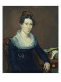 Portrait of Mrs. American School, Mid 19th Century Giclee Print by Jacob Webb