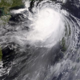 Typhoon Nuri Photographic Print by  Stocktrek Images