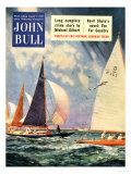 John Bull, Sailing Boats Magazine, UK, 1952 Prints