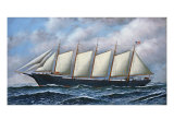 The Schooner Diria, 1918 Giclee Print by Antonio Jacobsen