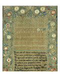 Needlework Sampler. New England, 1803 Poster by Rebeckah Ingersolls