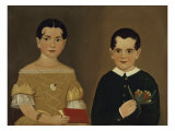 Two Children of Captain Christopher and Mrs. Ruth Andrews Print by William Matthew Prior