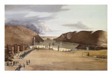 West Point with a View of the Hudson River, 1828 Giclee Print by George Caitlin
