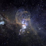 Loops of NGC 3576 Photographic Print by  Stocktrek Images