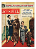 John Bull, Womens Fur Coats Saleswoman Shop Assistants Husbands Shopping Magazine, UK, 1957 Giclee Print