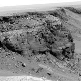Cliff on the Surface of Mars Photographic Print by  Stocktrek Images