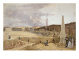 West Point with Drill, 1828 Giclee Print by George Caitlin