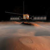 Artist's Concept of Mars Express Spacecraft in Orbit around Mars Photographic Print by  Stocktrek Images