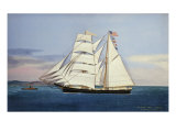 The Brig Harry Smith of Bangor. Willis. Silk, Velvet and Giclee Print by Thomas H. Willis