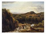 Scene in the Hartz Mountains Print by Thomas Worthington Whittredge