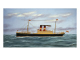 The S. S. Martha Washington Silk, Velvet and Giclee Print by Thomas H. Willis