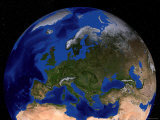 Blue Marble Next Generation Seasonal Landcover Lámina fotográfica por Stocktrek Images