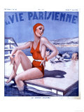 La Vie Parisienne, Glamour Womens Swimwear Fashion Magazine, France, 1936 Giclee Print