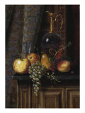 Still Life with Fruit and Claret, 1881 Poster by William Michael Harnett