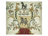 Fine and Important Silk-On-Silk Embroidered Coat-Of-Arms. Philadelphia, 1765 Giclee Print by Elizabeth Flower