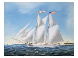 America's Cup Yacht Race of 1885: the Puritan and the Genesta, 1886 Giclee Print by Antonio Jacobsen