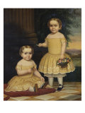 Portrait of Lavinia and Ella Simpson, c.1854 Giclee Print by Lavinia Scholes Simpson