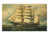 The Barque Colombine, 1903 Giclee Print by Antonio Jacobsen