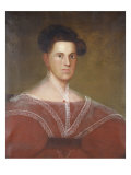 Portrait of a Woman in a Red Dress, c.1830-1840 Giclee Print by Zedekiah Belknap