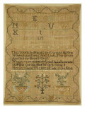 Wool Linen and Silk Purse Sampler. New England, 18th Century Giclee Print
