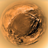 Fish-Eye View of Titan's Surface Photographic Print by  Stocktrek Images