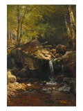 Thompson Cascade, White Mountains Posters by Albert Bierstadt