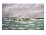 Last Sinking of Sussex, 1916. with Velvet and Silk Thread Reproduction procédé giclée par Thomas Willis