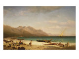 Bay of Salerno, 1858 Giclee Print by Albert Bierstadt