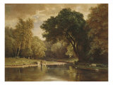 Landscape with Trout Stream, 1857 Print by George Inness