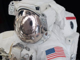 Close-Up View of an Astronaut's Helmet Visor Photographic Print by  Stocktrek Images