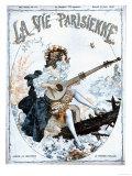 La Vie Parisienne, Glamour Musical Instruments Magazine, France, 1918 Giclee Print