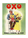 OXO, Chefs Cooking, UK, 1950 Poster