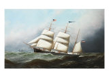 The Three Masted Barque, &#39;Ceres&#39;, Bound For the U. S. A, 1881 Giclee Print by Antonio Jacobsen