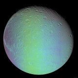 False Color View of Saturn's Moon Dione Photographic Print by  Stocktrek Images